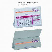 CALENDARIO DE MESA PLASTICO COM REFIL 12 MESES